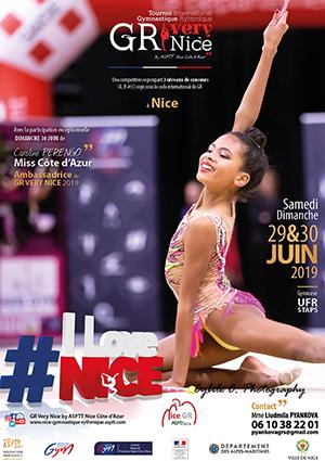 Affiche du tournoi international GR avec Chloé Ineze