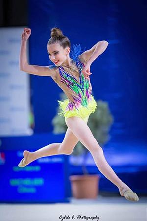 gymnastique rythmique Olivia Michelier du Pôle Espoir